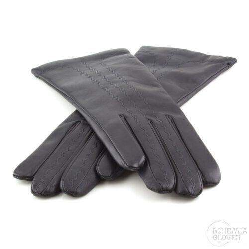 Black leather gloves - BOHEMIA GLOVES