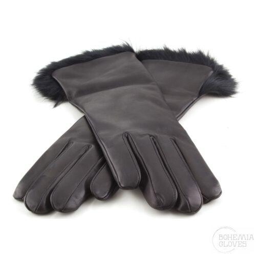 Černé kožené rukavice - BOHEMIA GLOVES