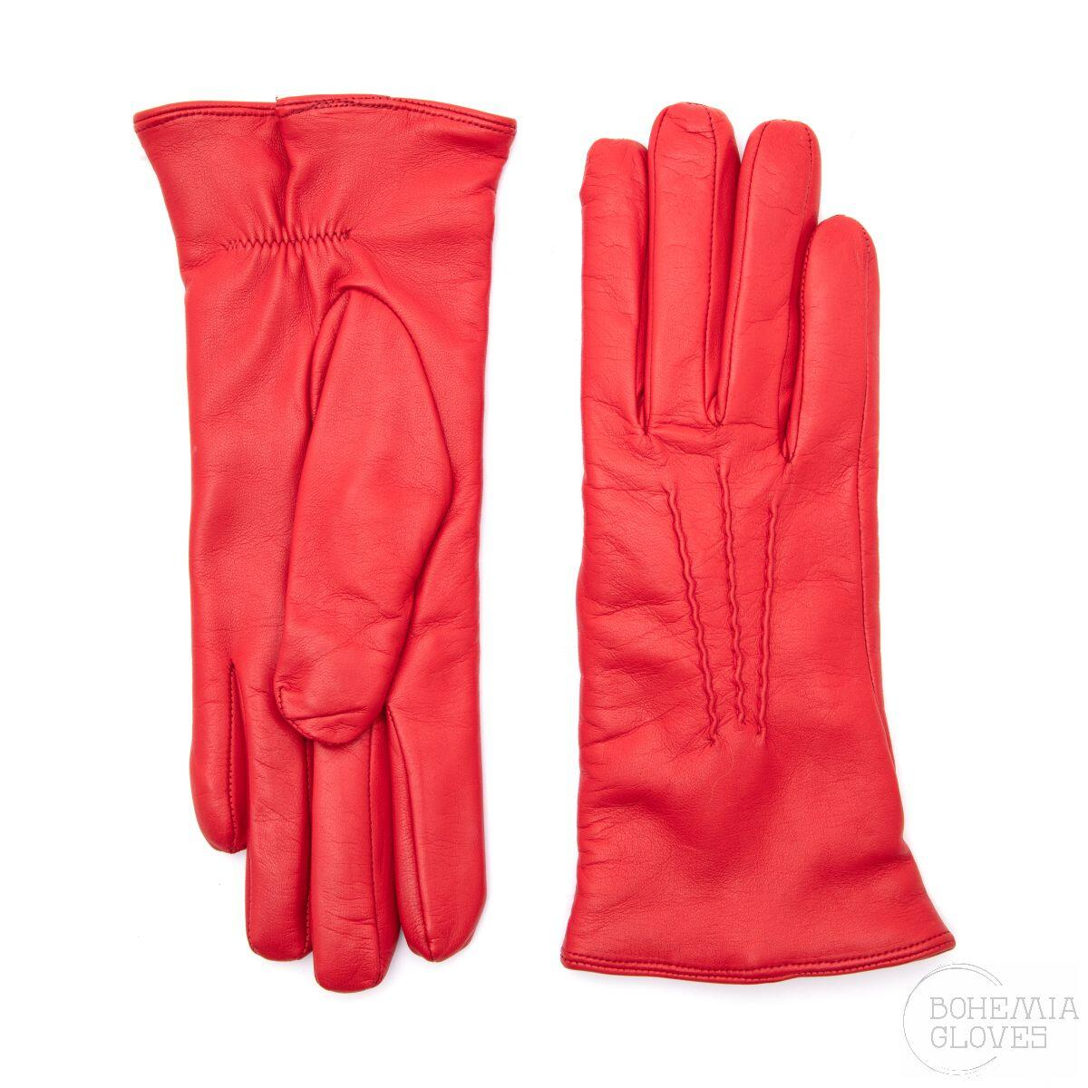 Red leather gloves - BOHEMIA GLOVES