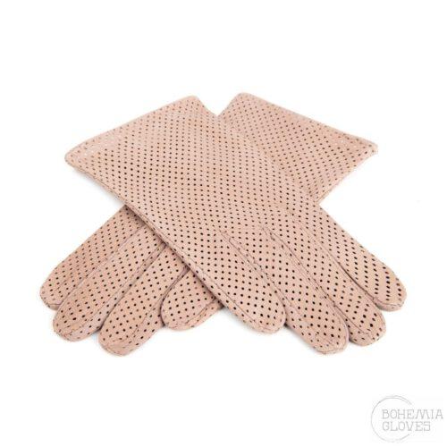 Krémové kožené rukavice - BOHEMIA GLOVES