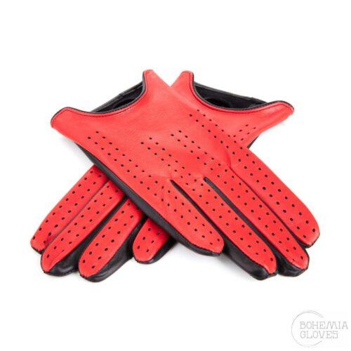 Červené kožené rukavice - BOHEMIA GLOVES