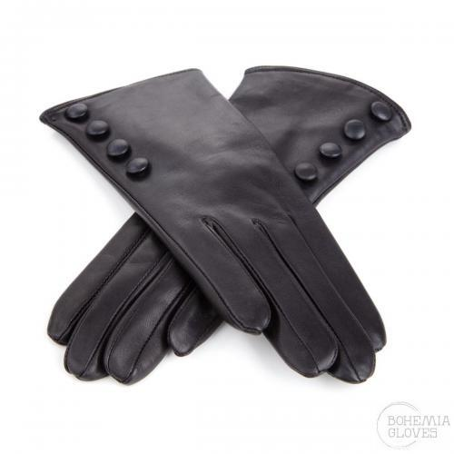 Black leather gloves - BOHEMIA GLOVES