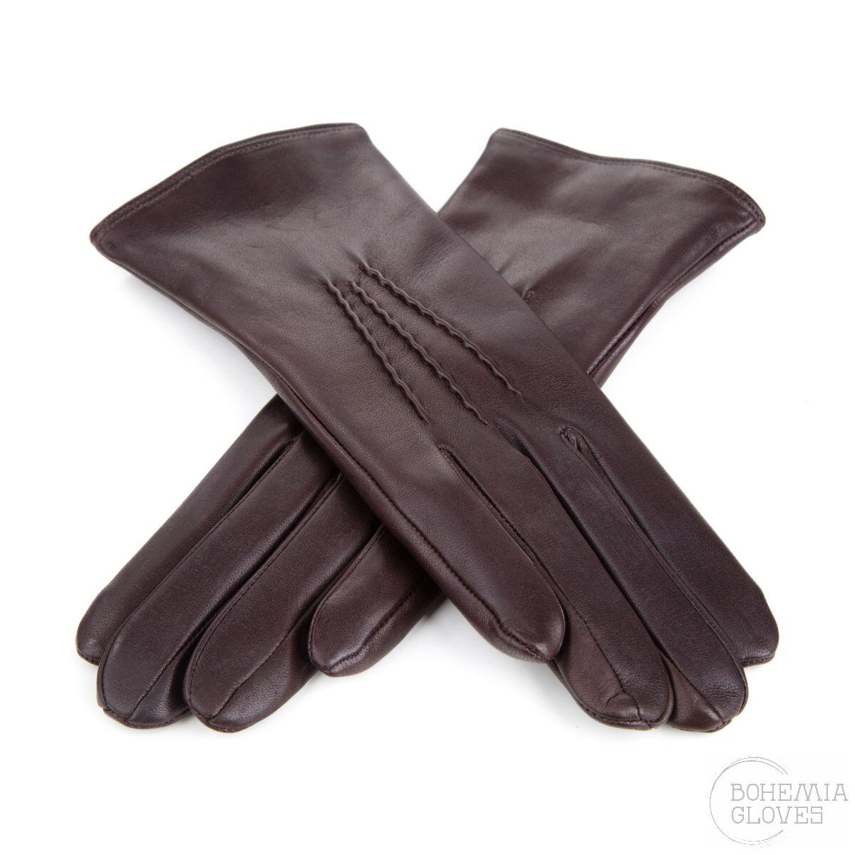 Brown leather gloves - BOHEMIA GLOVES